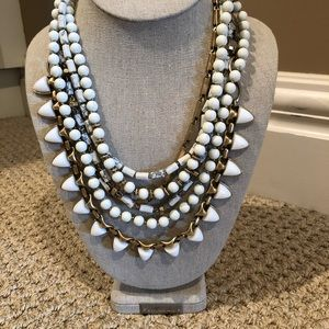 Stella & Dot White Stone Sutton Necklace